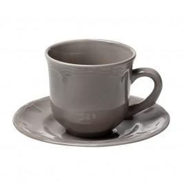Φλυτζάνι Καφέ + Πιατάκι Espiel Antique Grey Large HUN205K6