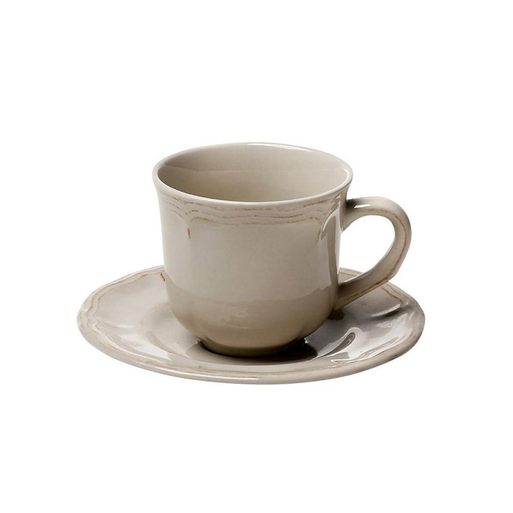 Φλυτζάνι Καφέ + Πιατάκι Espiel Antique Beige Small HUN207K6
