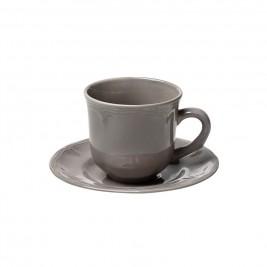 Φλυτζάνι Καφέ + Πιατάκι Espiel Antique Grey Small HUN208K6