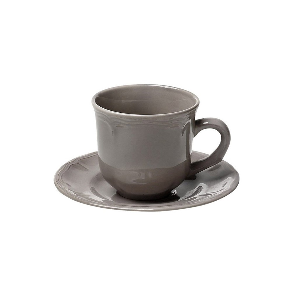 Φλυτζάνι Καφέ + Πιατάκι Espiel Antique Grey Small HUN208K6 home   κουζίνα   τραπεζαρία   κούπες   φλυτζάνια