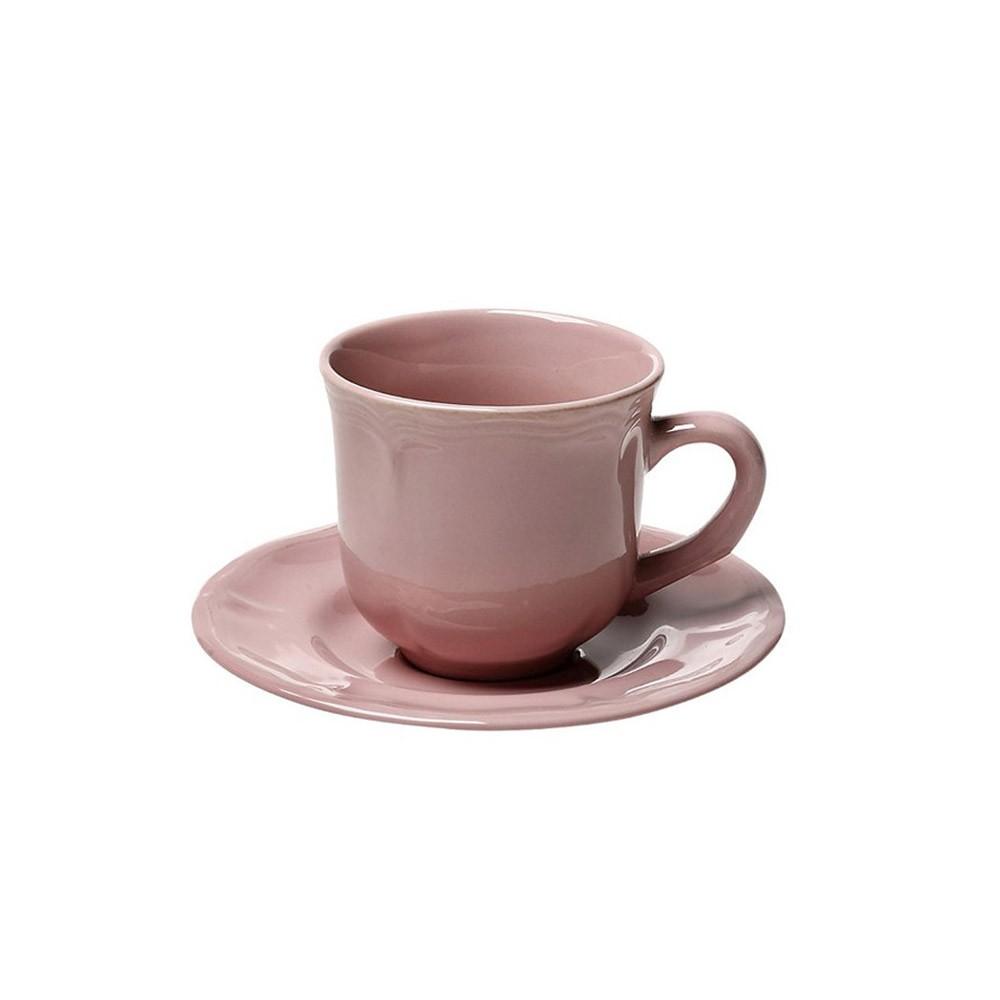 Φλυτζάνι Καφέ + Πιατάκι Espiel Antique Pink Small HUN209K6 home   κουζίνα   τραπεζαρία   κούπες   φλυτζάνια