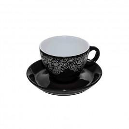 Φλυτζάνι Καφέ + Πιατάκι Espiel Black Small HUN128K6