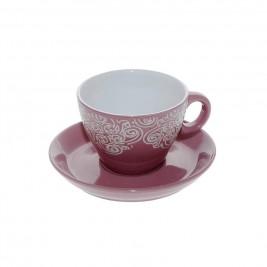 Φλυτζάνι Καφέ + Πιατάκι Espiel Pink Small HUN125K6