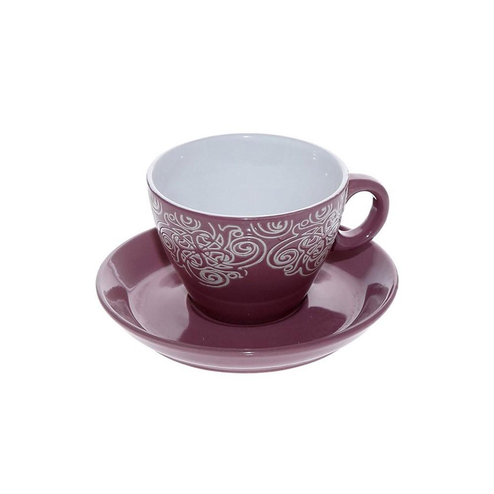 Φλυτζάνι Καφέ + Πιατάκι Espiel Bordeaux Small HUN126K6