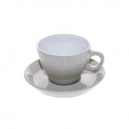 Φλυτζάνι Καφέ + Πιατάκι Espiel Beige Small HUN127K6