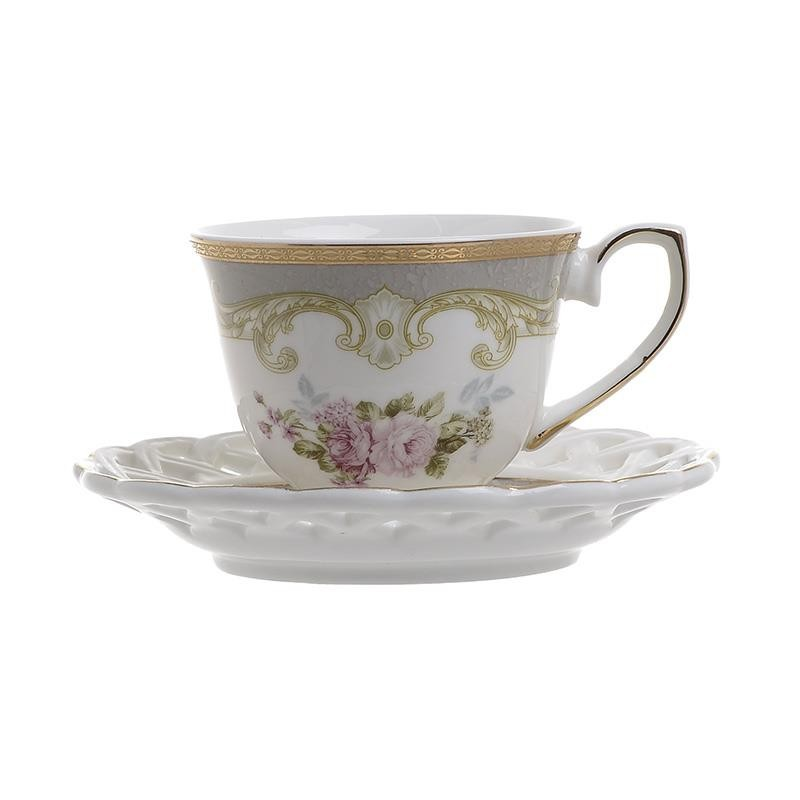 Φλυτζάνια Καφέ + Πιατάκια (Σετ 6τμχ) InArt 3-60-802-0028