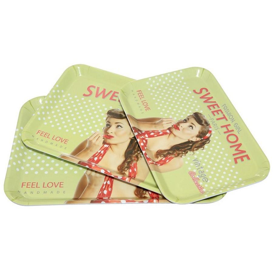 Δίσκοι Σερβιρίσματος (Σετ 3τμχ) Espiel Sweet Home KOS118 home   κουζίνα   τραπεζαρία   είδη σερβιρίσματος