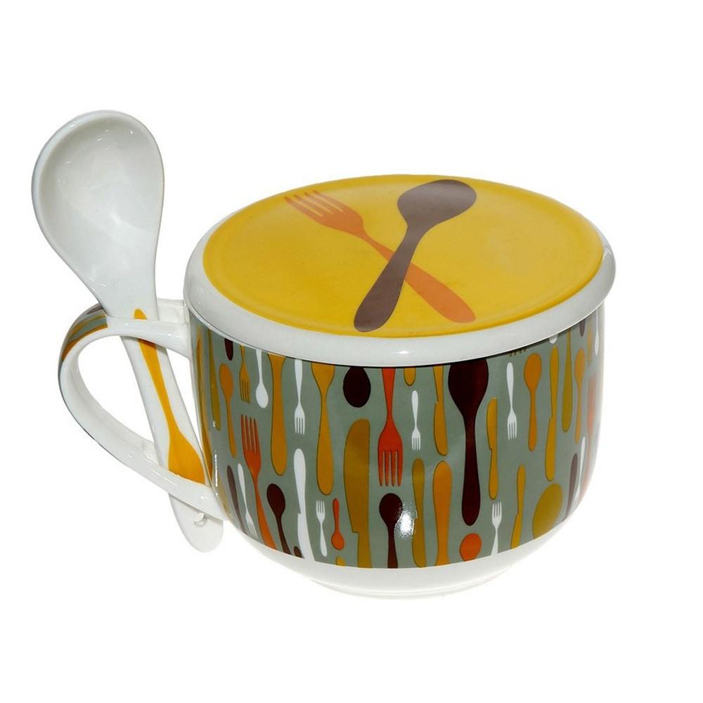 Κούπα Για Δημητριακά Espiel Κουτάλι Κίτρινη TAB0016