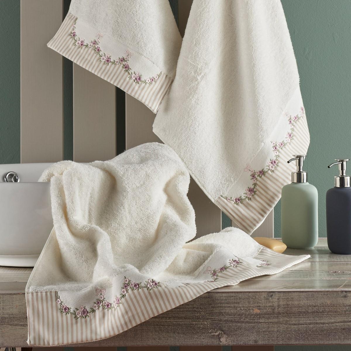 Πετσέτες Μπάνιου (Σετ 3τμχ) Kentia Alhambra
