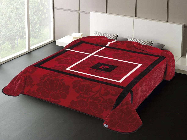 Κουβέρτα Βελουτέ Υπέρδιπλη Pierre Cardin Nancy 261 Red