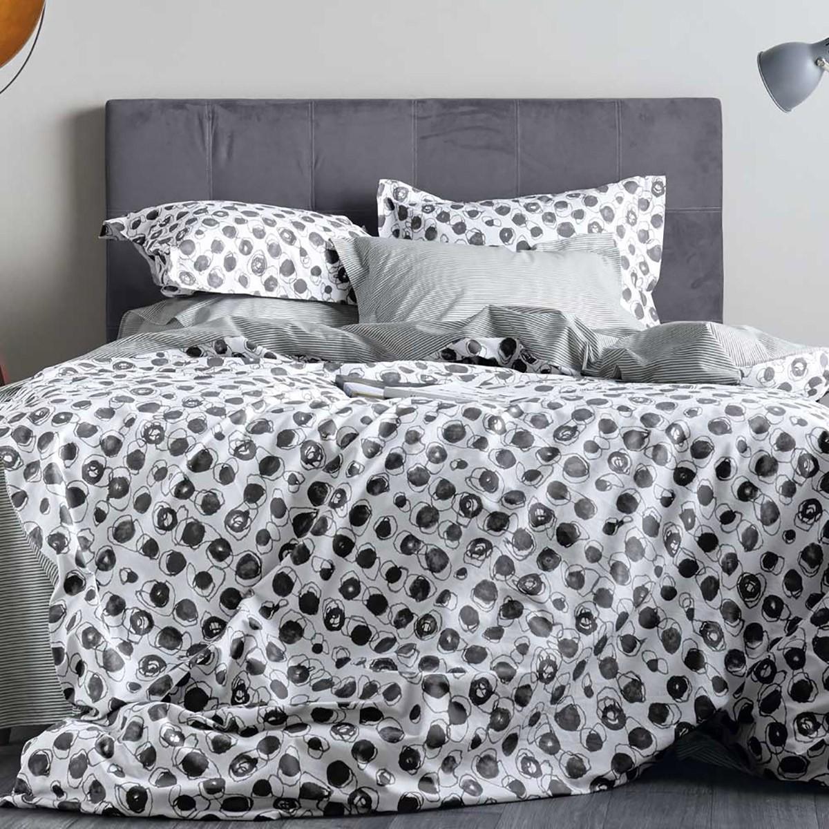 Σεντόνια Ημίδιπλα (Σετ) Kentia Loft Blot 30 home   κρεβατοκάμαρα   σεντόνια   σεντόνια ημίδιπλα   διπλά