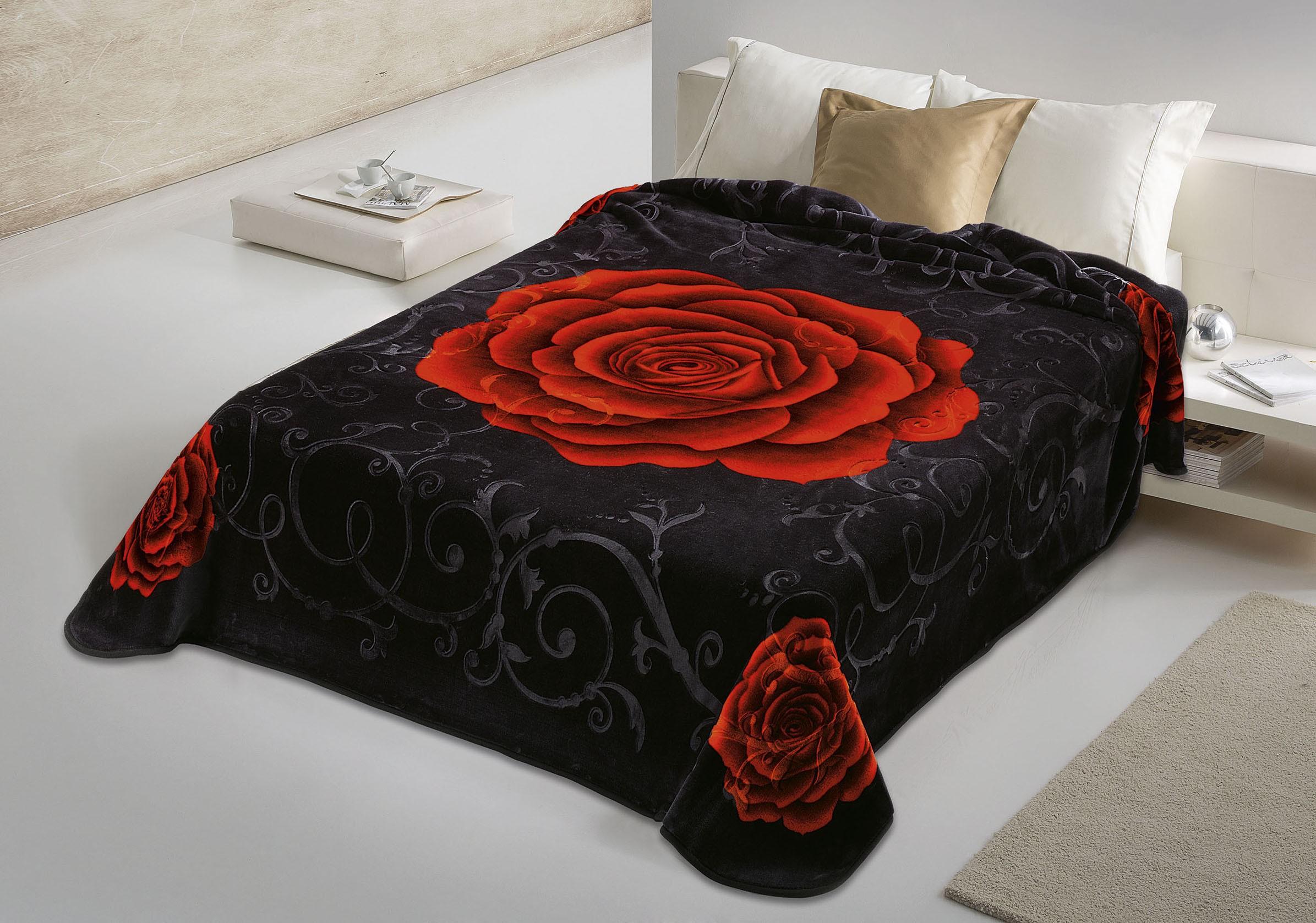 Κουβέρτα Βελουτέ Υπέρδιπλη Belpla Ster 5234 Black