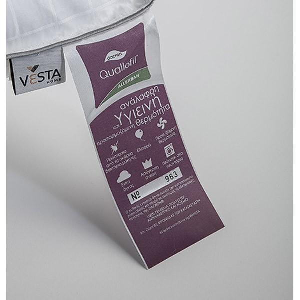 Πάπλωμα Υπέρδιπλο Vesta Quallofil Air Allerban 180gsm