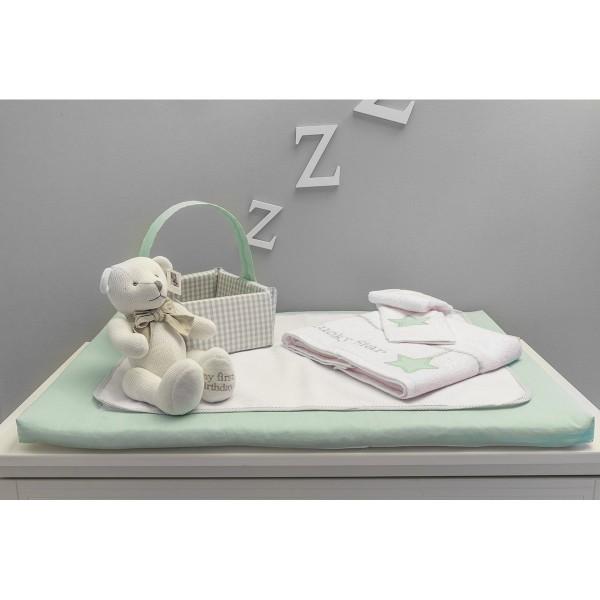 Κάλυμμα Αλλαξιέρας Baby Oliver Lucky Star Mint 304