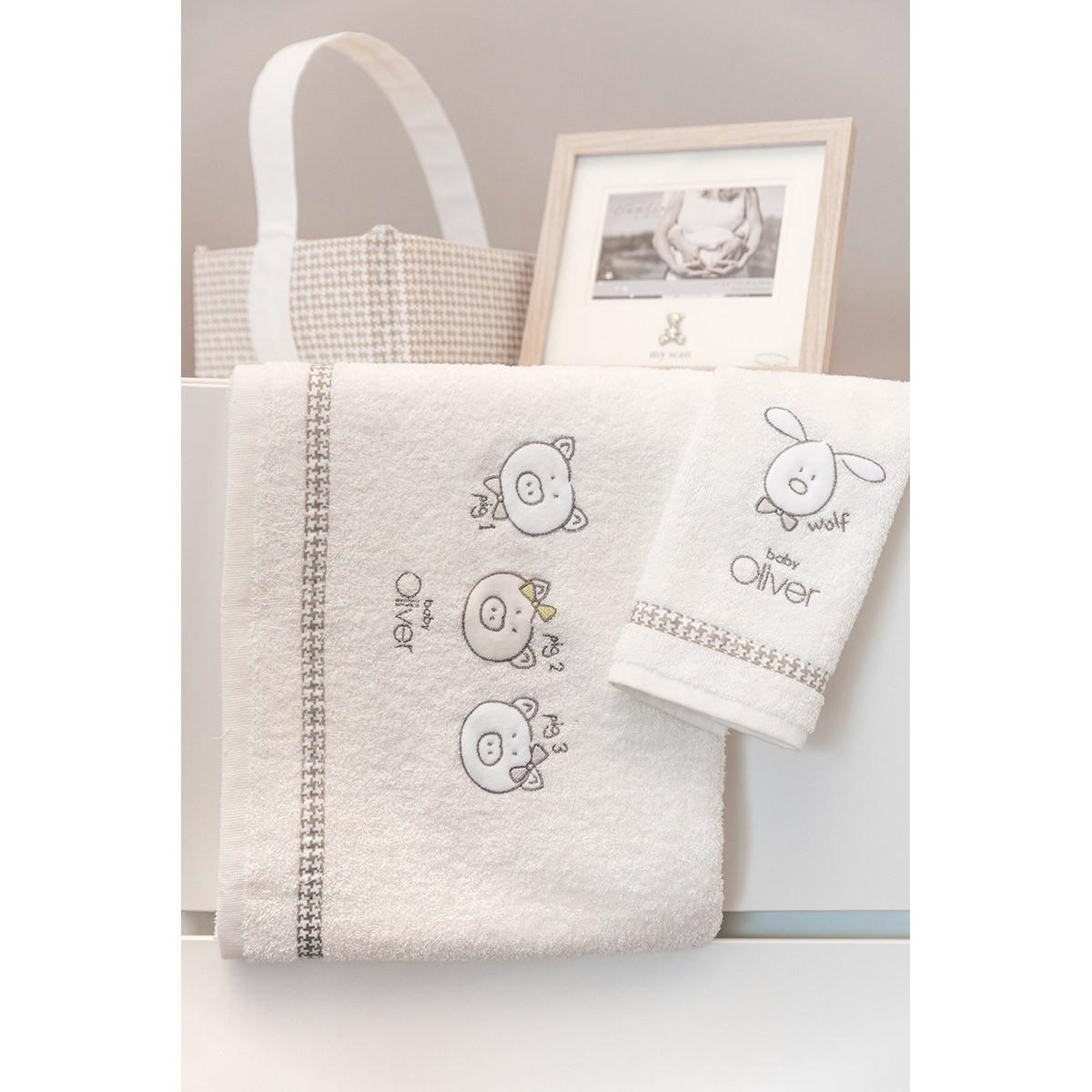 Βρεφικές Πετσέτες (Σετ 2τμχ) Baby Oliver Mr.Wolf & Co 305 home   βρεφικά   πετσέτες βρεφικές