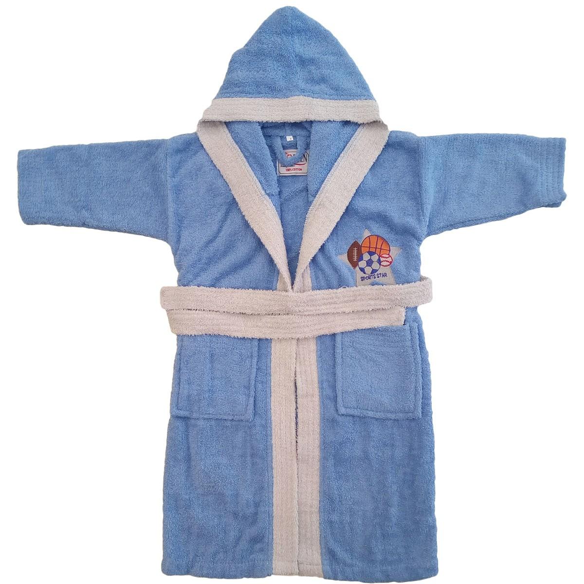 Βρεφικό Μπουρνούζι Morven Sports Star Blue Νο4 Νο4