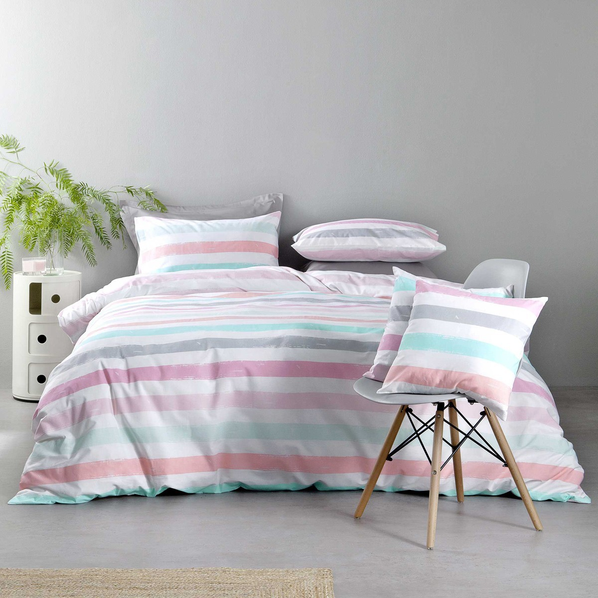 Παπλωματοθήκη Μονή (Σετ) Nima Bed Linen Cantieri Pink