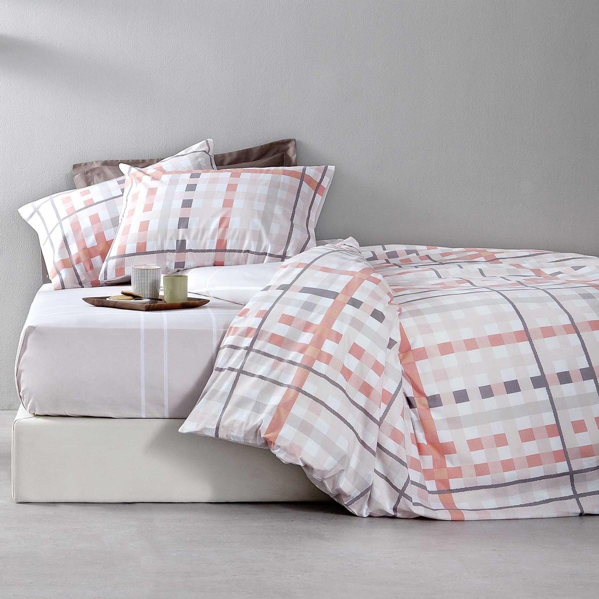 Παπλωματοθήκη Υπέρδιπλη (Σετ) Nima Bed Linen Damino Pink