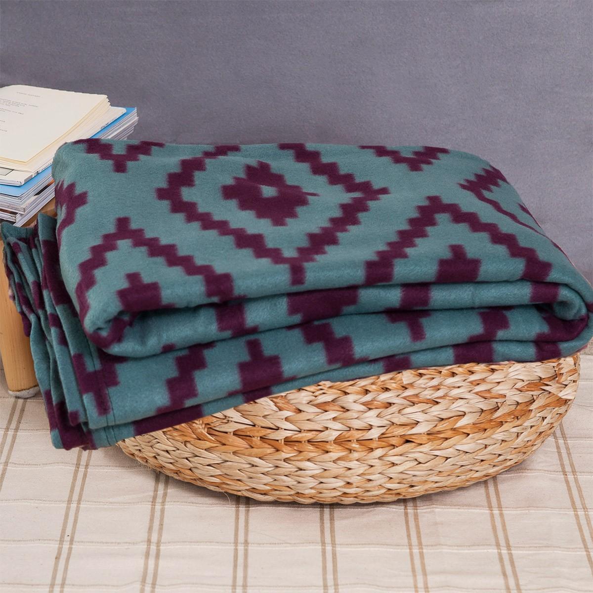 Κουβέρτα Fleece Μονή Melinen Ethnic 85395