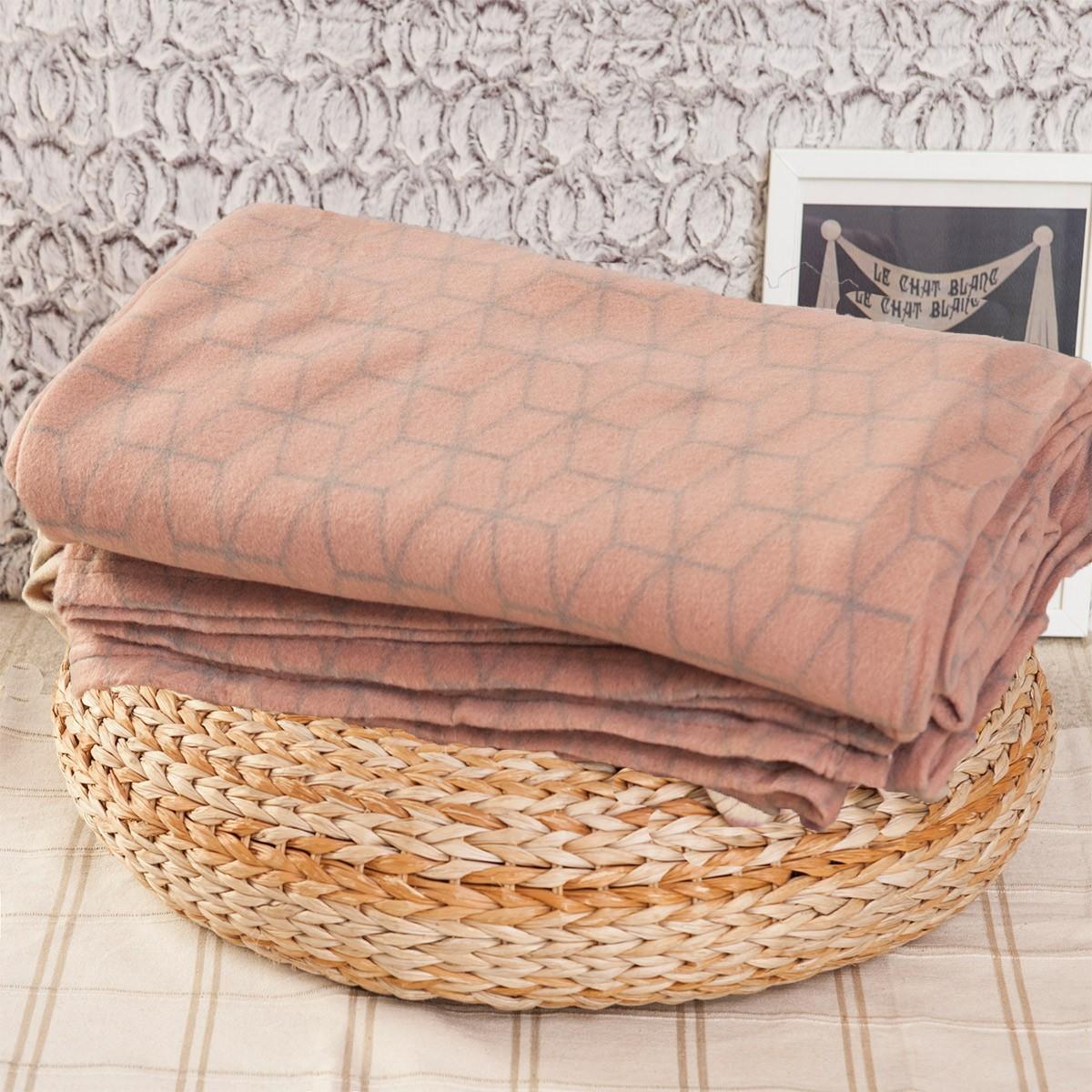 Κουβέρτα Fleece Διπλή Melinen Minimal home   κρεβατοκάμαρα   κουβέρτες   κουβέρτες fleece υπέρδιπλες