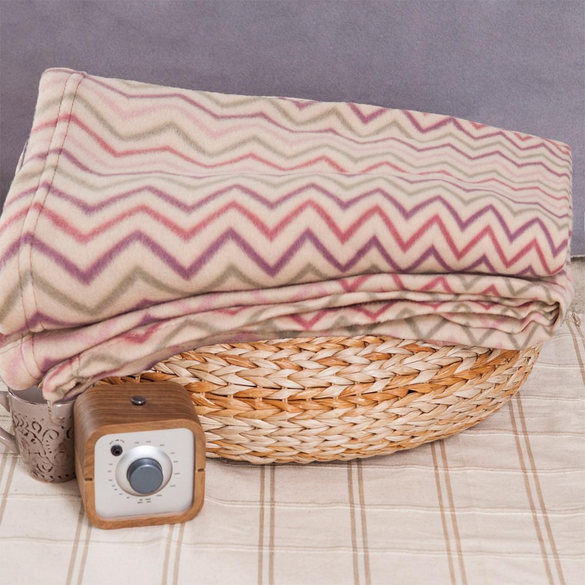 Κουβέρτα Fleece Διπλή Melinen Zig Zag home   κρεβατοκάμαρα   κουβέρτες   κουβέρτες fleece υπέρδιπλες