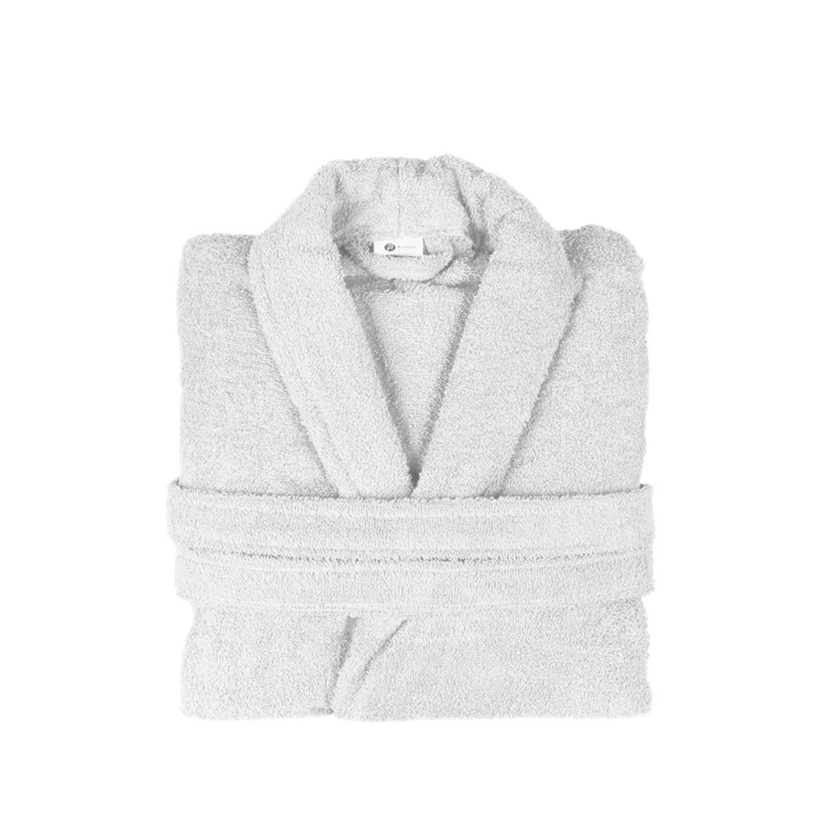 Μπουρνούζι Με Γιακά Fennel Comfort Λευκό X-LARGE X-LARGE