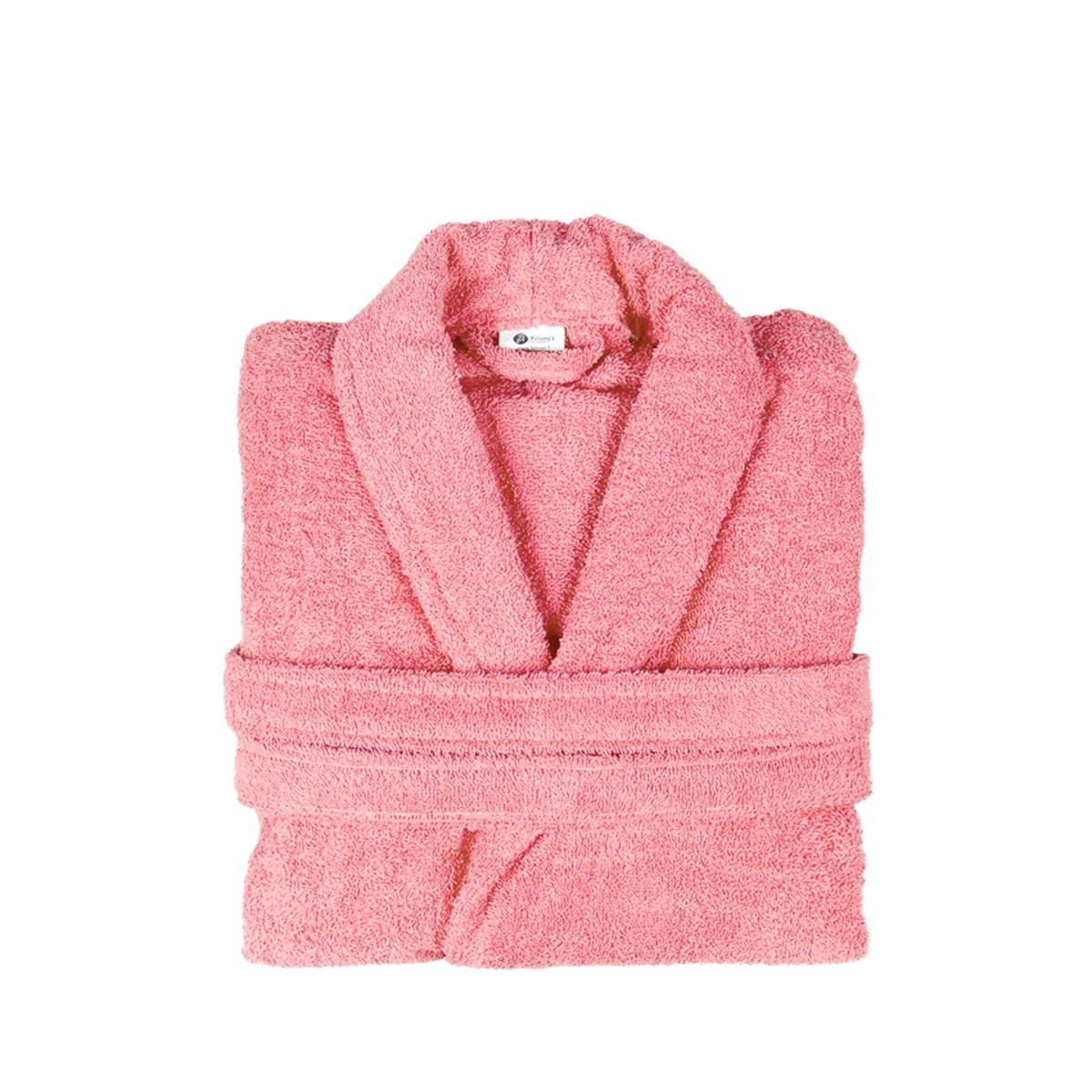 Μπουρνούζι Με Γιακά Fennel Comfort Ροζ SMALL SMALL 85419