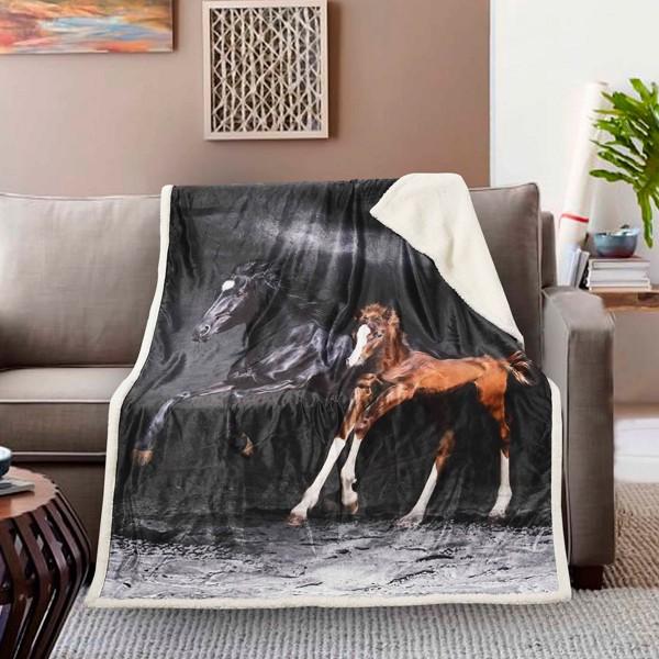 Κουβέρτα Καναπέ Fennel Horses BMS390-P004