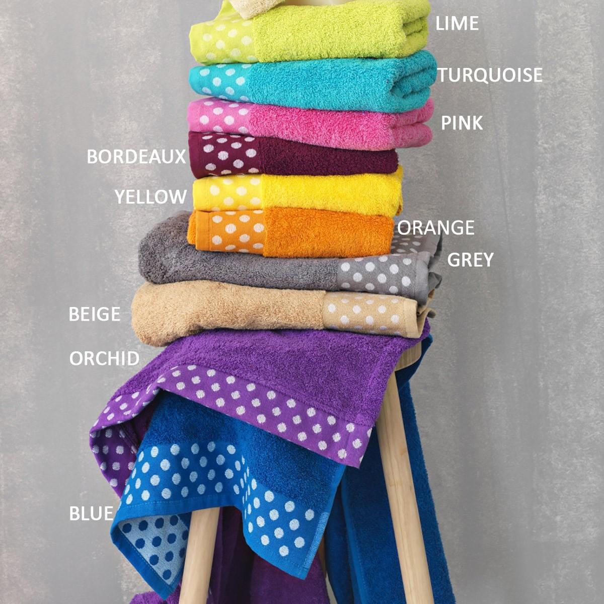 Πετσέτες Μπάνιου (Σετ 3τμχ) Palamaiki Towels Dots 70025