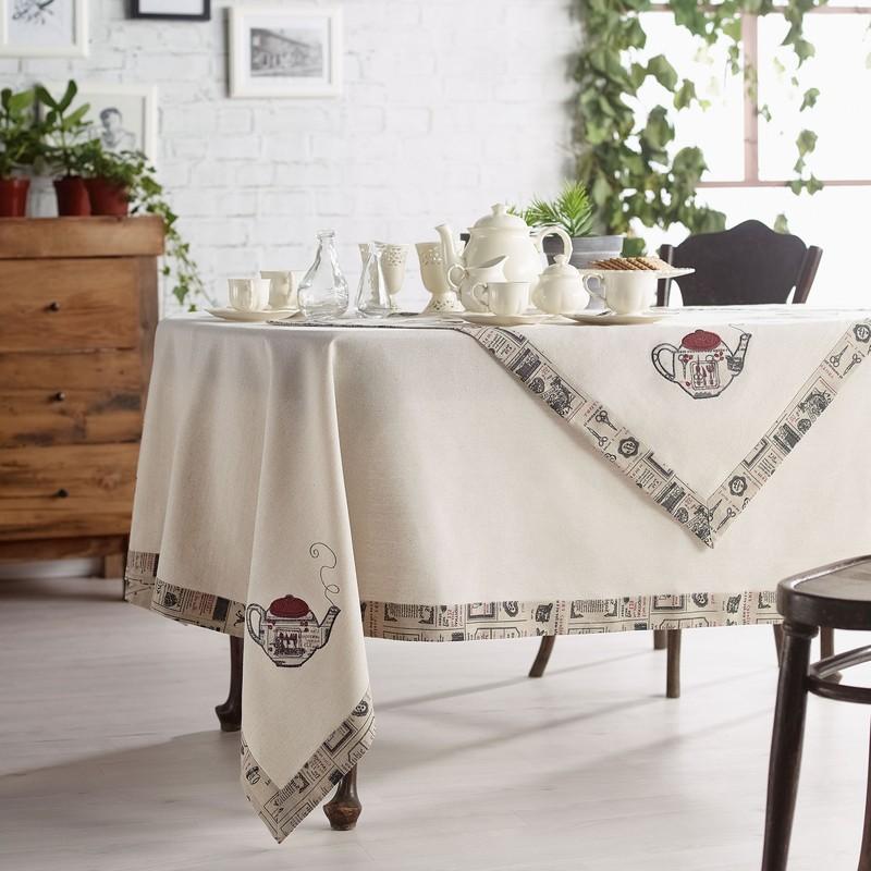 Τραπεζομάντηλο (135×135) Gofis Home Tea Pot 208