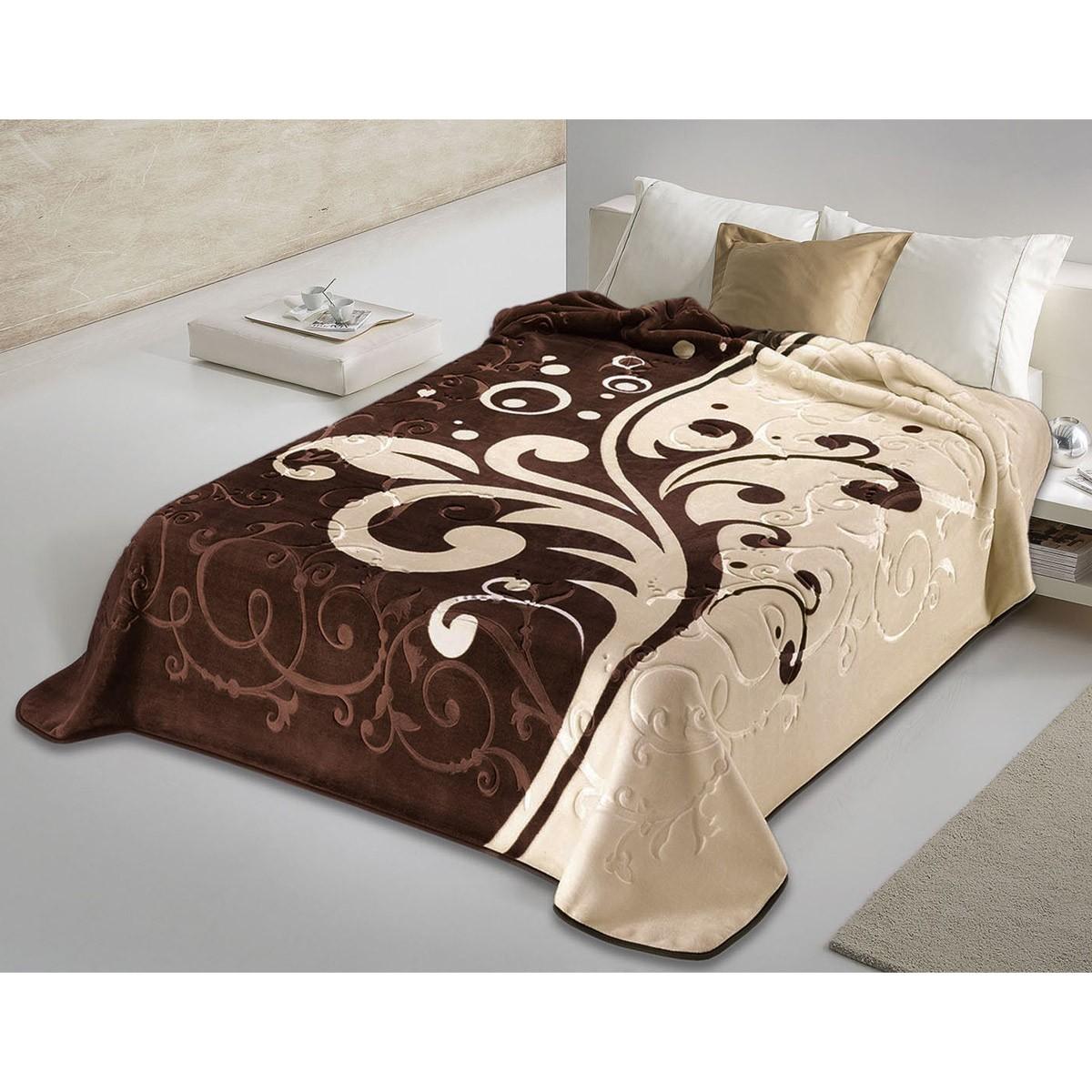 Κουβέρτα Βελουτέ Υπέρδιπλη Belpla Ster 5226 Brown