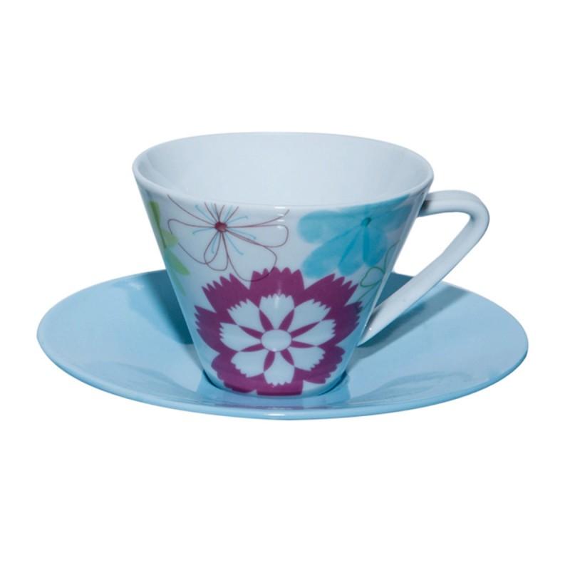 Φλυτζάνια Τσαγιού + Πιατάκια (Σετ 6τμχ) Marva Daisy 021152