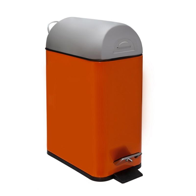Κάδος Απορριμμάτων Marva 5Lit Rectangle Orange 431113
