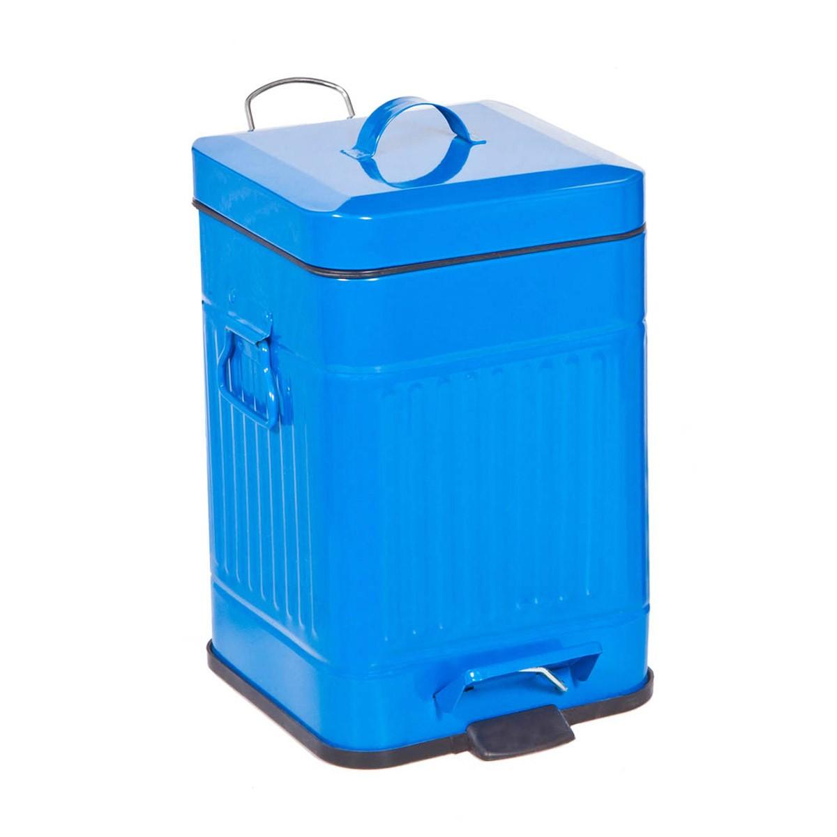 Κάδος Απορριμάτων (25x31) Marva 5Lit Square Blue 478075 home   μπάνιο   κάδοι απορριμμάτων