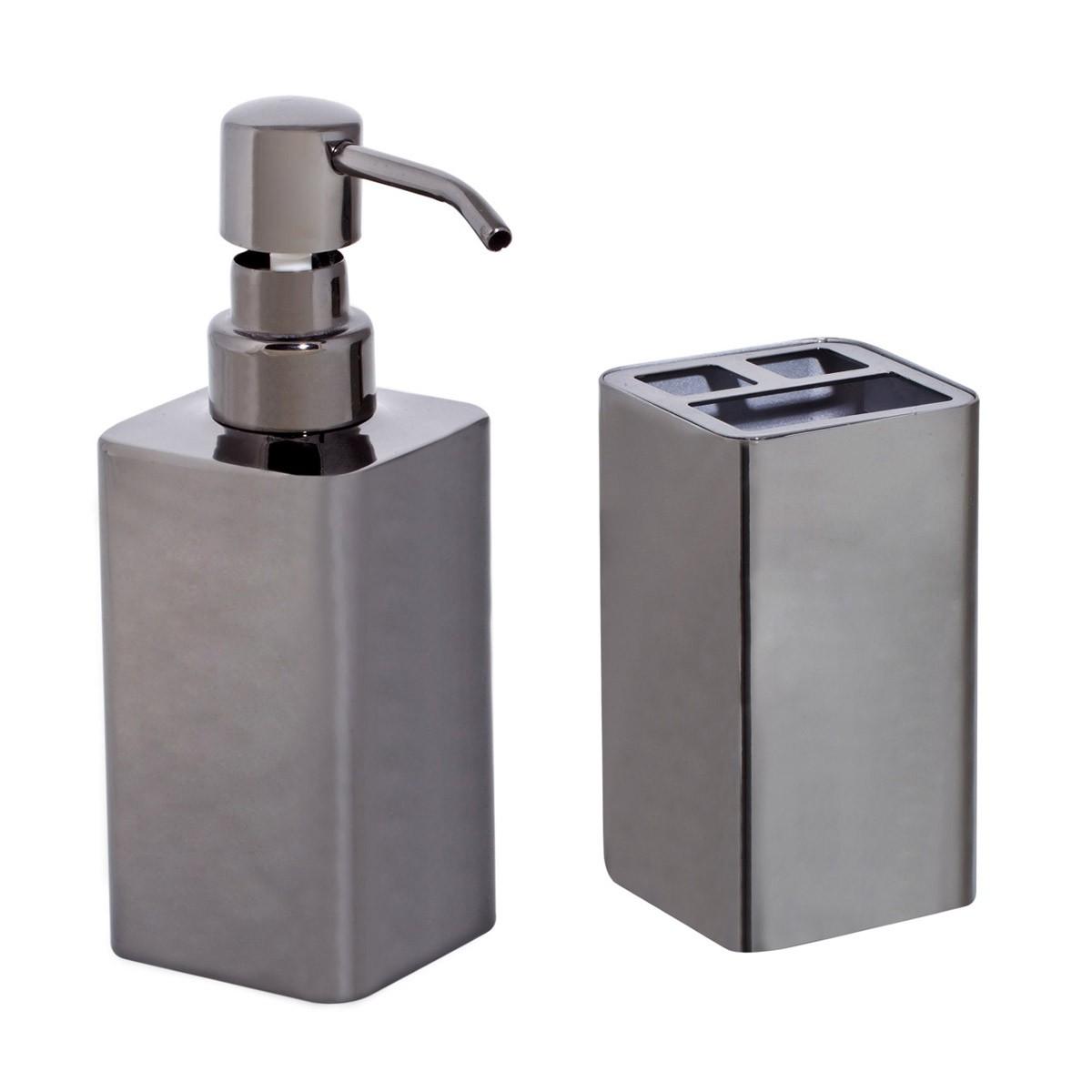 Αξεσουάρ Μπάνιου (Σετ 2τμχ) Marva Titanium 478090