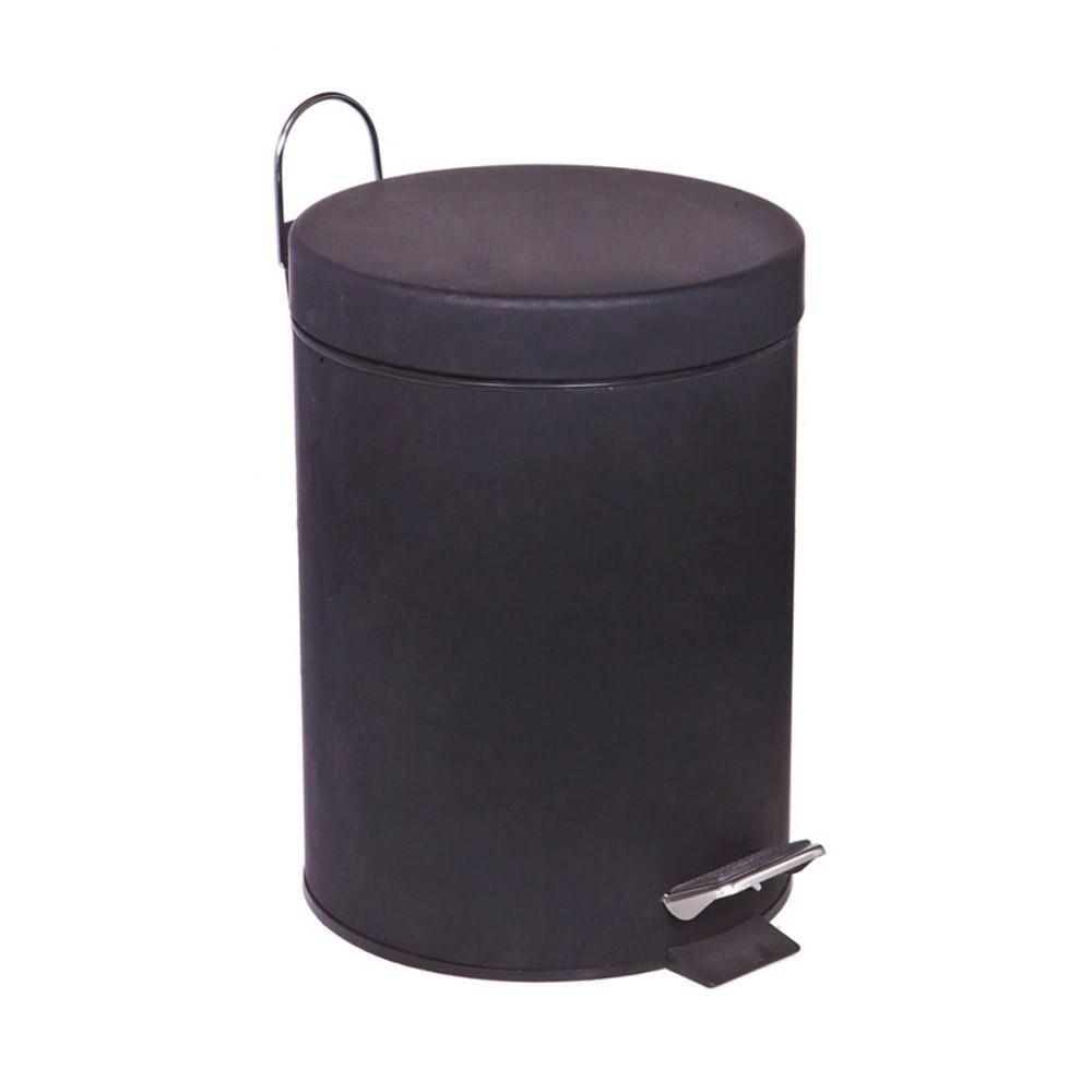 Κάδος Απορριμάτων (20x28) Marva 5Lit Rubber Black 531027 home   μπάνιο   κάδοι απορριμμάτων