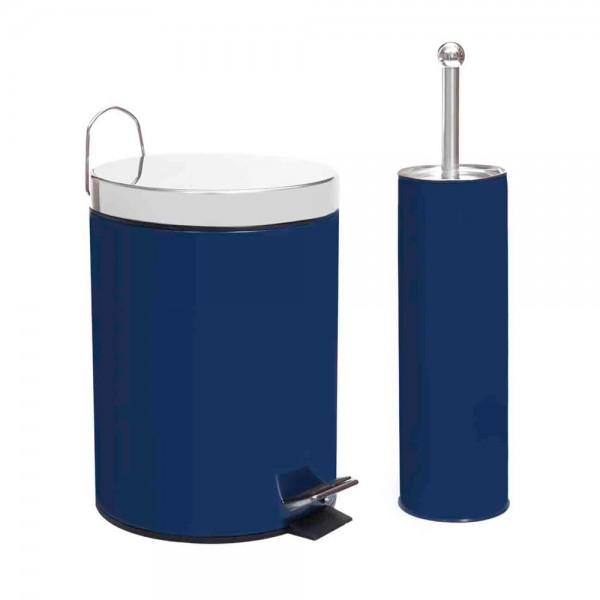 Κάδος Απορριμμάτων + Πιγκάλ (Σετ) Marva Blue 575025