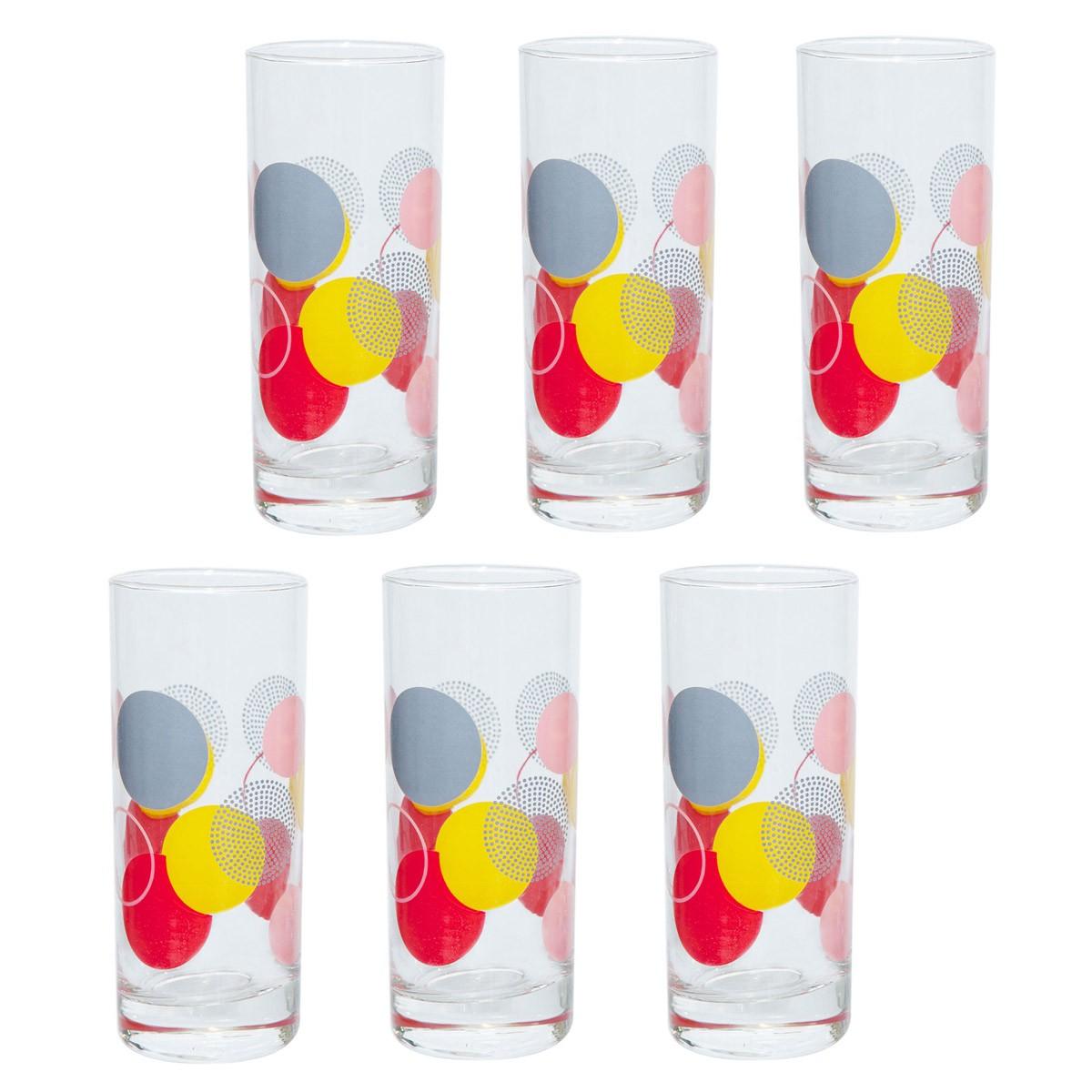 Ποτήρια Νερού (Σετ 6τμχ) Marva Circles 681006 home   κουζίνα   τραπεζαρία   ποτήρια