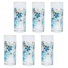 Ποτήρια Νερού (Σετ 6τμχ) Marva Blue Baroc 681009