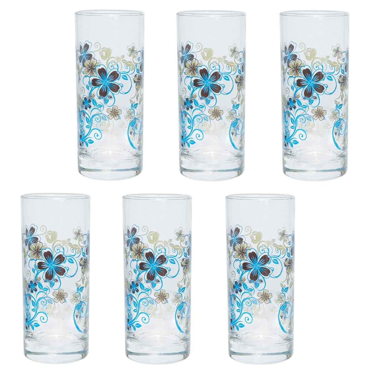 Ποτήρια Νερού (Σετ 6τμχ) Marva Blue Baroc 681009 home   κουζίνα   τραπεζαρία   ποτήρια