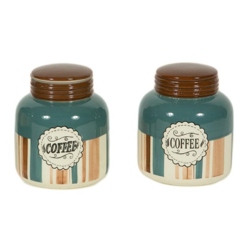 Δοχείο Ζάχαρης + Καφέ (Σετ) Marva Blue Jars 652123 85841