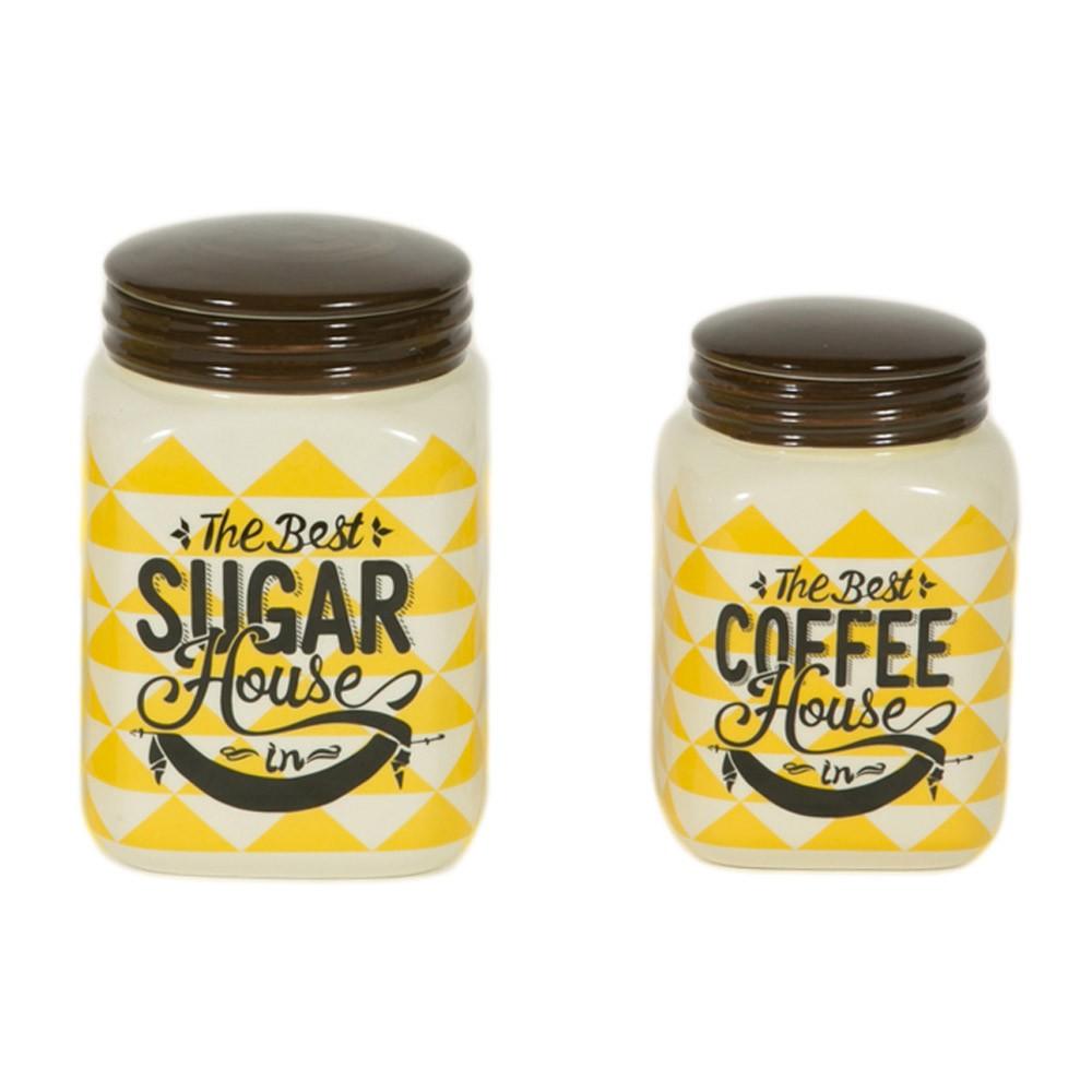 Δοχείο Ζάχαρης + Καφέ (Σετ) Marva Rhombus 652133