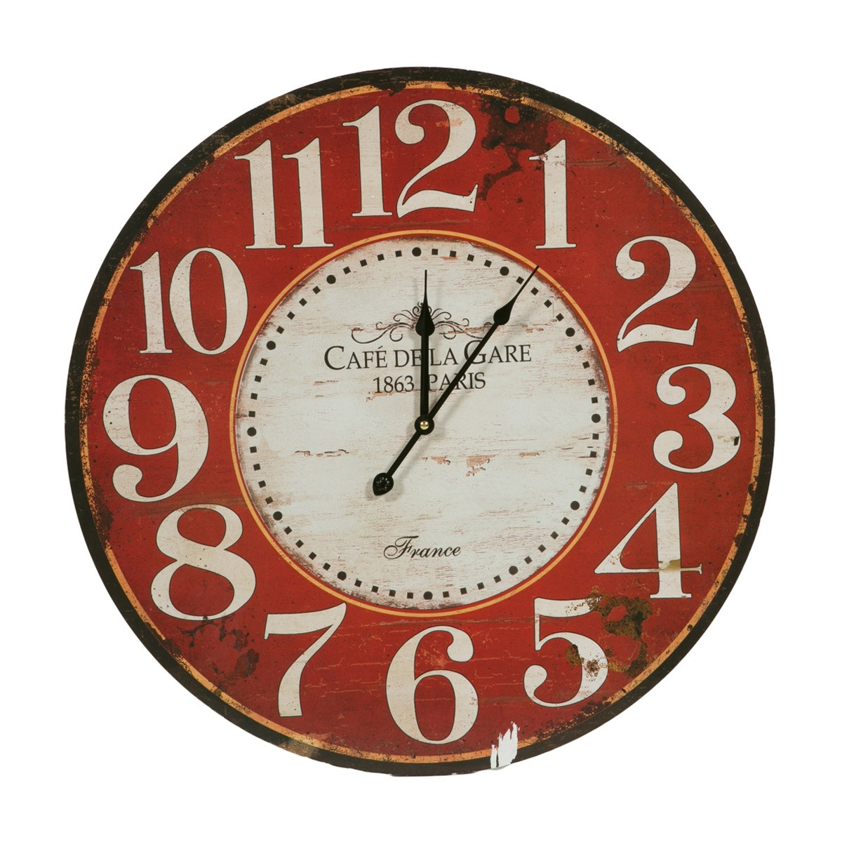 Ρολόι Τοίχου Marva La Gare Red 692042 85852