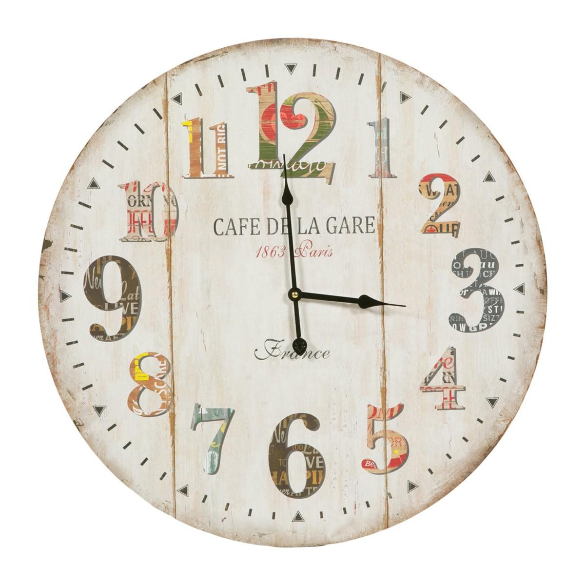 Ρολόι Τοίχου Marva La Gare Beige 692055 85855