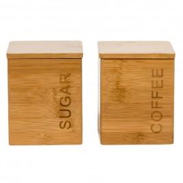Δοχείο Ζάχαρης + Καφέ (Σετ) Marva Flat Bamboo 604012