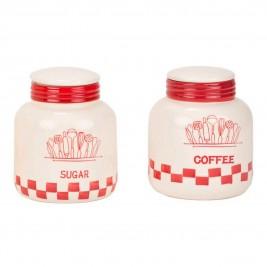 Δοχείο Ζάχαρης + Καφέ (Σετ) Marva Ivory Jars 652137