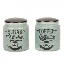 Δοχείο Ζάχαρης + Καφέ (Σετ) Marva Grey Words 652139