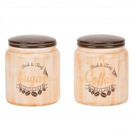 Δοχείο Ζάχαρης + Καφέ (Σετ) Marva Gold Jars 652161