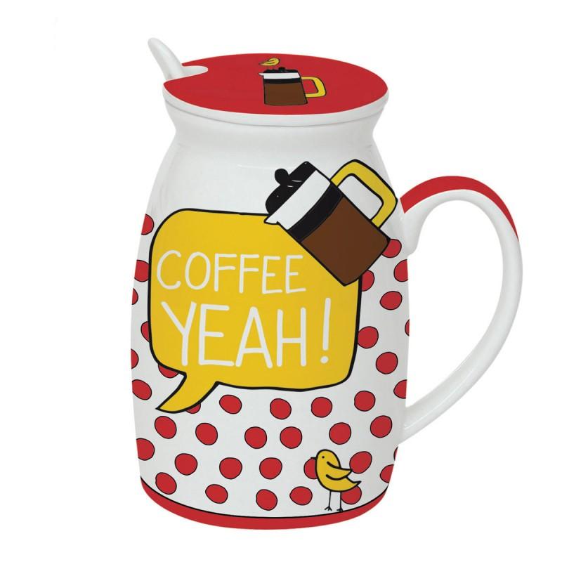 Κούπα Με Καπάκι Marva Coffee Yeah 100CΟΥΕ