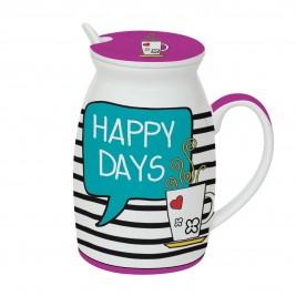 Κούπα Με Καπάκι Marva Happy Days 100ΗΑDΑ
